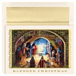 JAM Paper® Christmas Cards Boxed Set, Blessed Nativity, 18/Pack