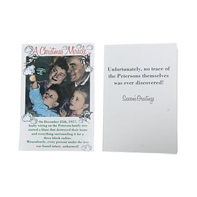 JAM Paper® Christmas Cards Boxed Set, A Christmas Miracle Vintage, 10/Pack