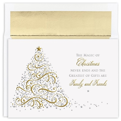 JAM Paper® Christmas Cards Boxed Set, Magic Of Christmas, 16/Pack