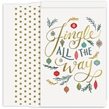 JAM Paper® Christmas Cards Boxed Set, Jingle All The Way, 18/Pack