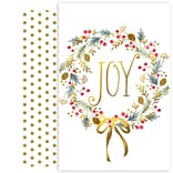 JAM Paper® Christmas Cards Boxed Set, Joy Wreath, 18/Pack