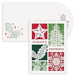 JAM Paper® Christmas Cards Boxed Set, Holiday Elements, Laser Cut, 12/Pack