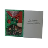 JAM Paper® Christmas Cards Boxed Set, Vintage Candy Canes, 10/Pack