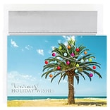 JAM Paper® Christmas Cards Boxed Set, Decorated Palm Tree, 18/Pack