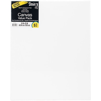 Studio 71 Stretched Canvas Value Pack 5/Pkg-16X20