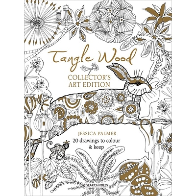 Search Press Books-Tangle Wood Poster Adult Coloring Book