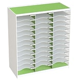 Paperflow Master Literature Organizer, 36 Compartment, White/Green (803.13.08)