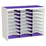Paperflow Master Literature Organizer, 24 Compartment, White/Purple (802.13.19)