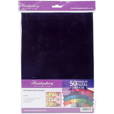 Hunkydory Fifty Shades Of Mirri A4 Cardstock 50/Pkg-50 Darker Colors/1 Each