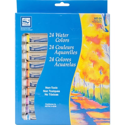 Watercolor Paints 12ml 24/Pkg-Assorted Colors (WP-24)