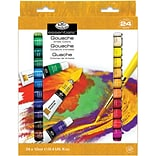 Gouache Acrylic Paints 12ml 24/Pkg-Assorted Colors