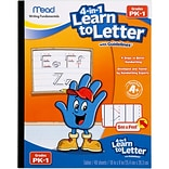 Mead 4-in-1 Learn to Letter 8 x 10 Primary Writing Tablet, Multicolored (MEA48112)