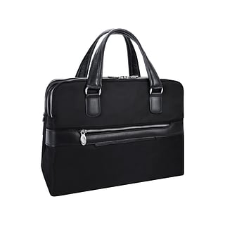McKleinUSA N Series HARTFORD Nylon Dual Compartment Briefcase, Black (18585)