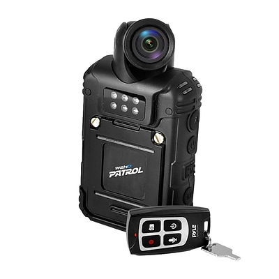 Pyle 93599313M Rugged & Water Resistant HD Body Camera, Compact & Wireless Security Surveillance Police Cam
