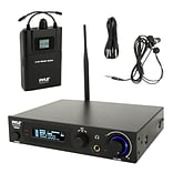 Pyle 93598931M In-Ear Monitor & Receiver System, Stage Performance Selectable Audio Frequency Kit Bl
