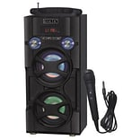 Sykik 93597971M Bluetooth Karaoke, PA System Tower Speaker Black