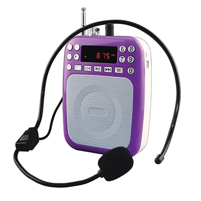 Supersonic 93598435M Bluetooth Portable PA System - Purple