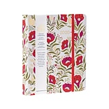 2020 RSVP 7 x 8.5 Planner, High Note, Dinaras Red Floral in Gold (CHH-0703)