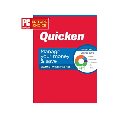 Quicken Deluxe for 1 User, Windows and Mac, DVD (170262)