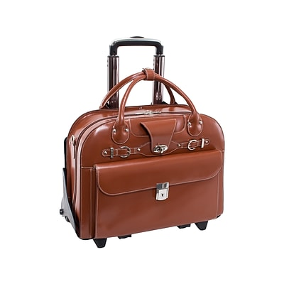 McKleinUSA Roseville W Series Leather Check-Point Friendly Briefcase, Brown (96644)