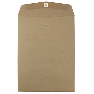 JAM Paper® 9 x 12 Open End Catalog Envelopes with Clasp Closure, Brown Kraft Paper Bag, 100/Pack (563120849B)