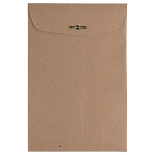 JAM Paper® 6 x 9 Open End Catalog Envelopes with Clasp Closure, Brown Kraft Paper Bag, 25/Pack (5631