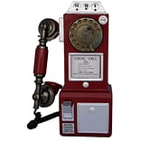 TechPlay Retro Classic Rotary Dial Public Phone with Classic Handset Design (93597972M)