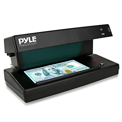Pyle Counterfeit Bill Detector with UV/MG Detection (93599155M)