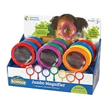 Learning Resources Primary Science Plastic Magnifiers, Assorted Colors, 12/Set (LER 2775)