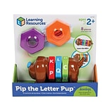 Learning Resources Pip the Letter Pup Interactive Play Set, Assorted Colors, 8 Pieces/Set (LER 7739)