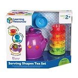 Learning Resources Serving Shapes Tea Set, Assorted Colors, 11 Pieces/Set (LER 7740)