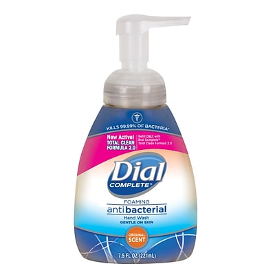 Dial Complete Antibacterial Foaming Hand Soap, Original, 7.5 Oz. (02725/02936)