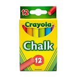 Crayola Drawing Chalk, Assorted Colors, 12 Per Box (51-0816)
