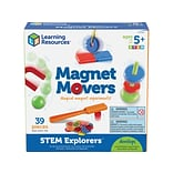 Learning Resources STEM Explorers Magnet Movers, Assorted Colors, 39 Pieces/Set (LER 9295)