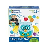Learning Resources Hoot the Fine Motor Owl, Assorted Colors, 6 Pieces/Set (LER 9045)