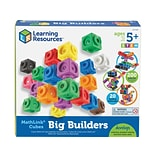 Learning Resources MathLink Cubes Big Builders, Assorted Colors, 200 Pieces/Set (LER 9291)