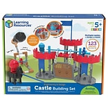 Learning Resources Engineering & Design Castle Building Set, Assorted Colors, 123 Pieces/Set (LER287