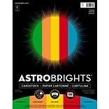 Astrobrights Primary Cardstock Paper, 8.5 x 11, 65 lbs, Assorted Colors, 100/Pack (91646)