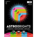 Astrobrights Double Color 3 Cardstock Paper, 70 lbs, 8.5 x 11, Assorted Colors, 80/Pack (91668)