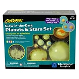 Educational Insights GeoSafari Glow-in-the-Dark Planets & Stars Set, Assorted Colors (5234)