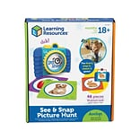Learning Resources See & Snap Picture Hunt, Assorted Colors, 46 Pieces/Set (LER3062)