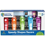 Learning Resources Speedy Shapes Racers, Assorted Colors, 10 Pieces/Set (LER3786)