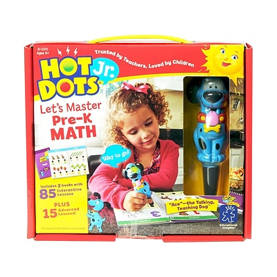 Educational Insights Hot Dots Jr. Lets Master Pre-K Math Set, 4-5 Ages (EI-2372)