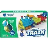 Educational Insights Design & Drill All Aboard Train, Assorted Colors (4175)