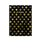 2020 TF Publishing 7.5 x 10.25 Planner, Golden Dots, Black (20-4224)