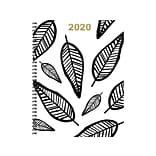 2020 TF Publishing 9W x 11L Planner, Sketch Leaves, White/Black (20-9720)