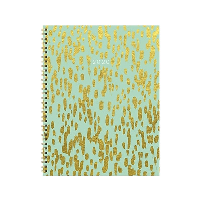 2020 TF Publishing 9W x 11L Planner, Gold Strokes, Green/Gold (20-9713)
