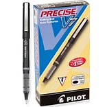 Pilot Precise V7 Rollerball Pens, Fine Point, Black Ink, Dozen (35346)