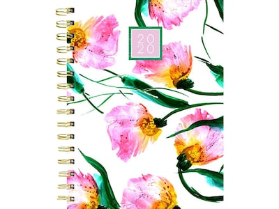 "2020 TF Publishing 6.5"" x 8"" Planner, Pretty Petals, Multicolor (20-9099)"