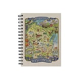 TF Publishing Wisconsin State Map Soft Journal, 7 x 9, Multicolor (99-WISC1)